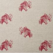 Linen dog & horse cushions