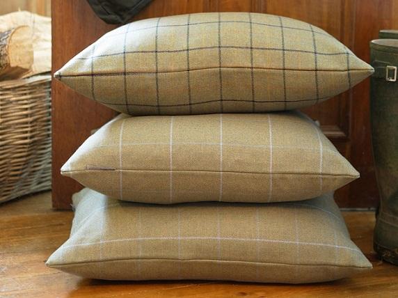 British Tweed Cushions Lilymatthews